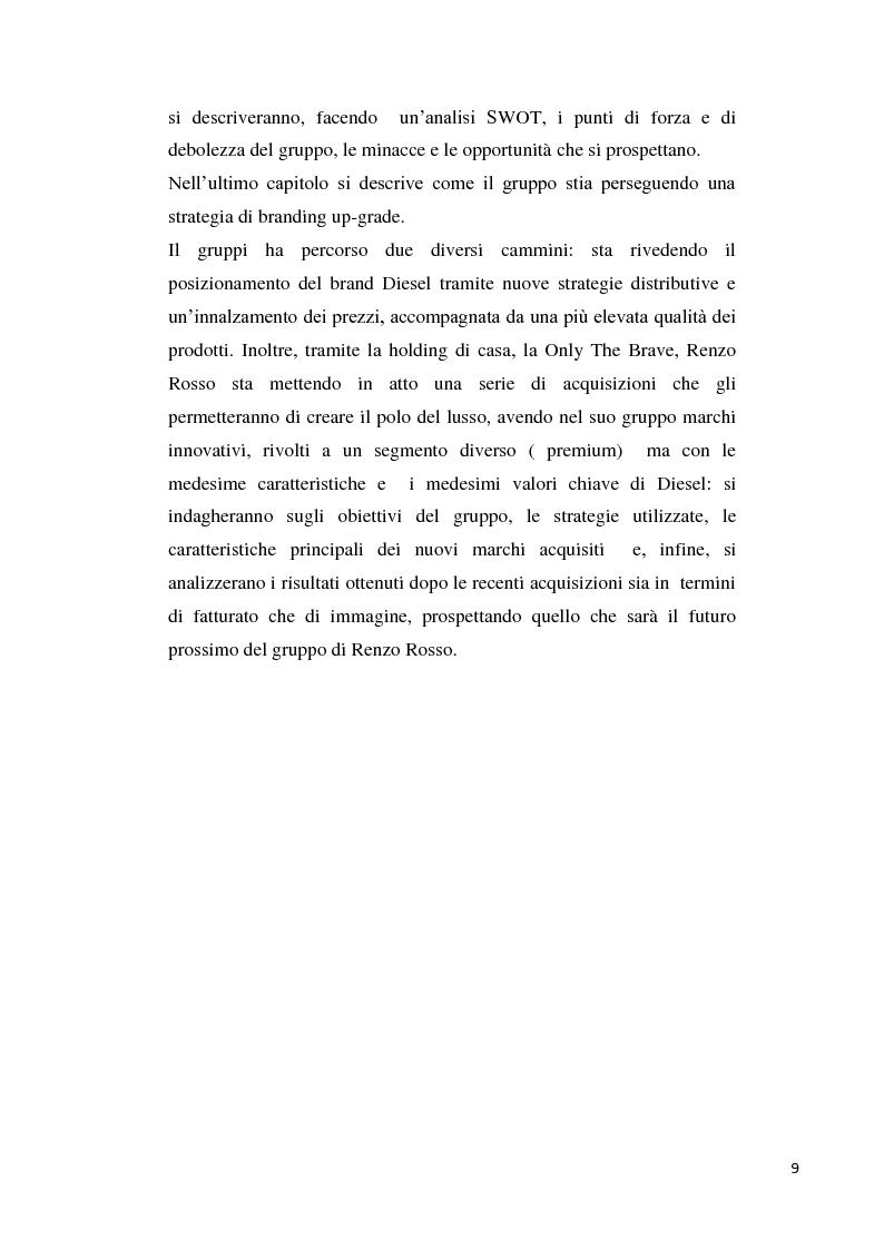 Anteprima della tesi: Branding up grade: il caso Diesel, Pagina 4