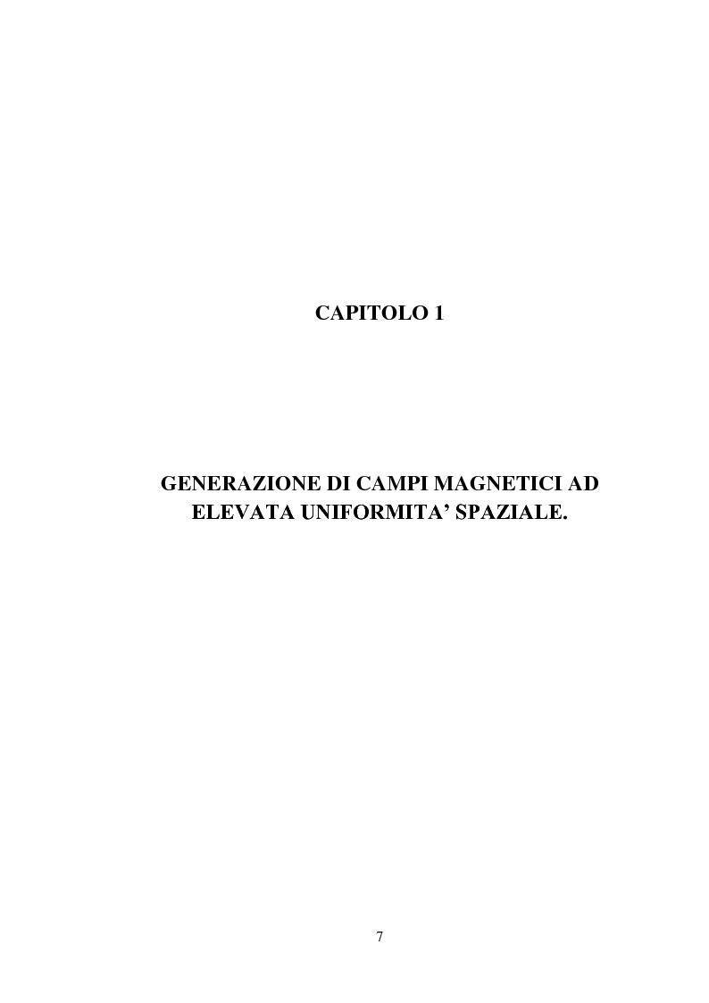 Anteprima della tesi: Progetto e realizzazione di una camera magnetica per prove di controllo d'assetto, Pagina 1
