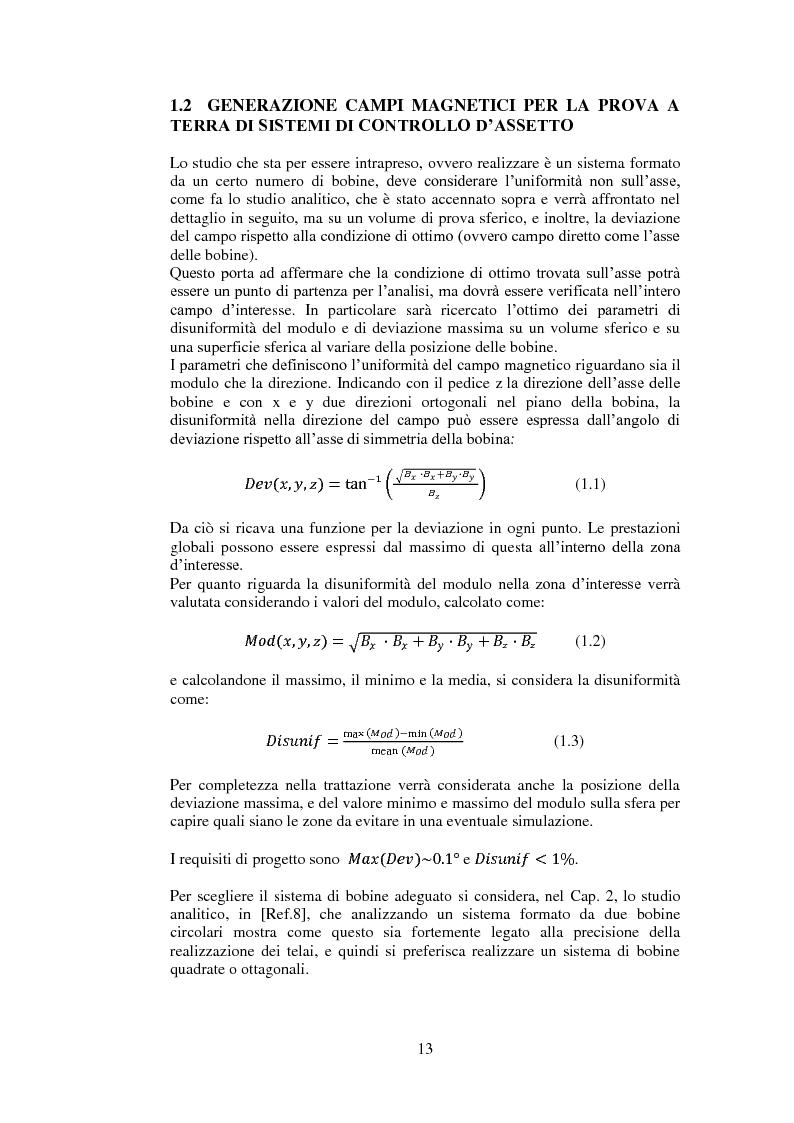 Anteprima della tesi: Progetto e realizzazione di una camera magnetica per prove di controllo d'assetto, Pagina 7