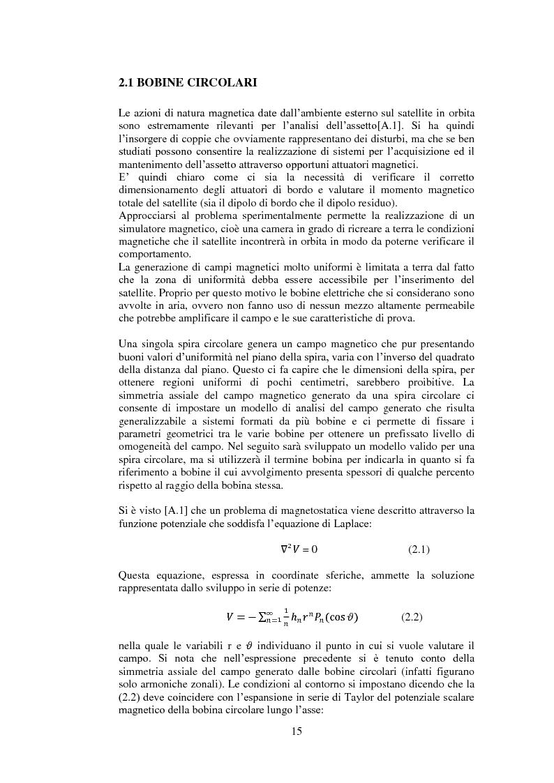 Anteprima della tesi: Progetto e realizzazione di una camera magnetica per prove di controllo d'assetto, Pagina 9