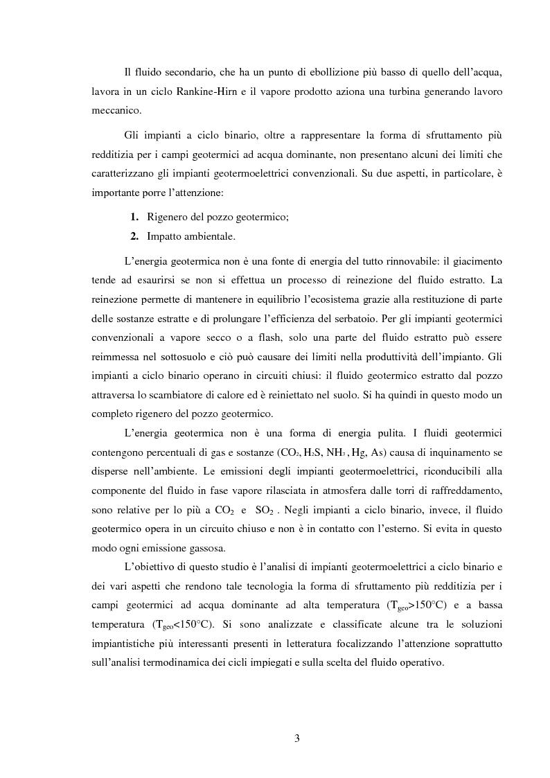 Anteprima della tesi: Produzione di energia elettrica da fonti geotermiche a bassa entalpia , Pagina 3
