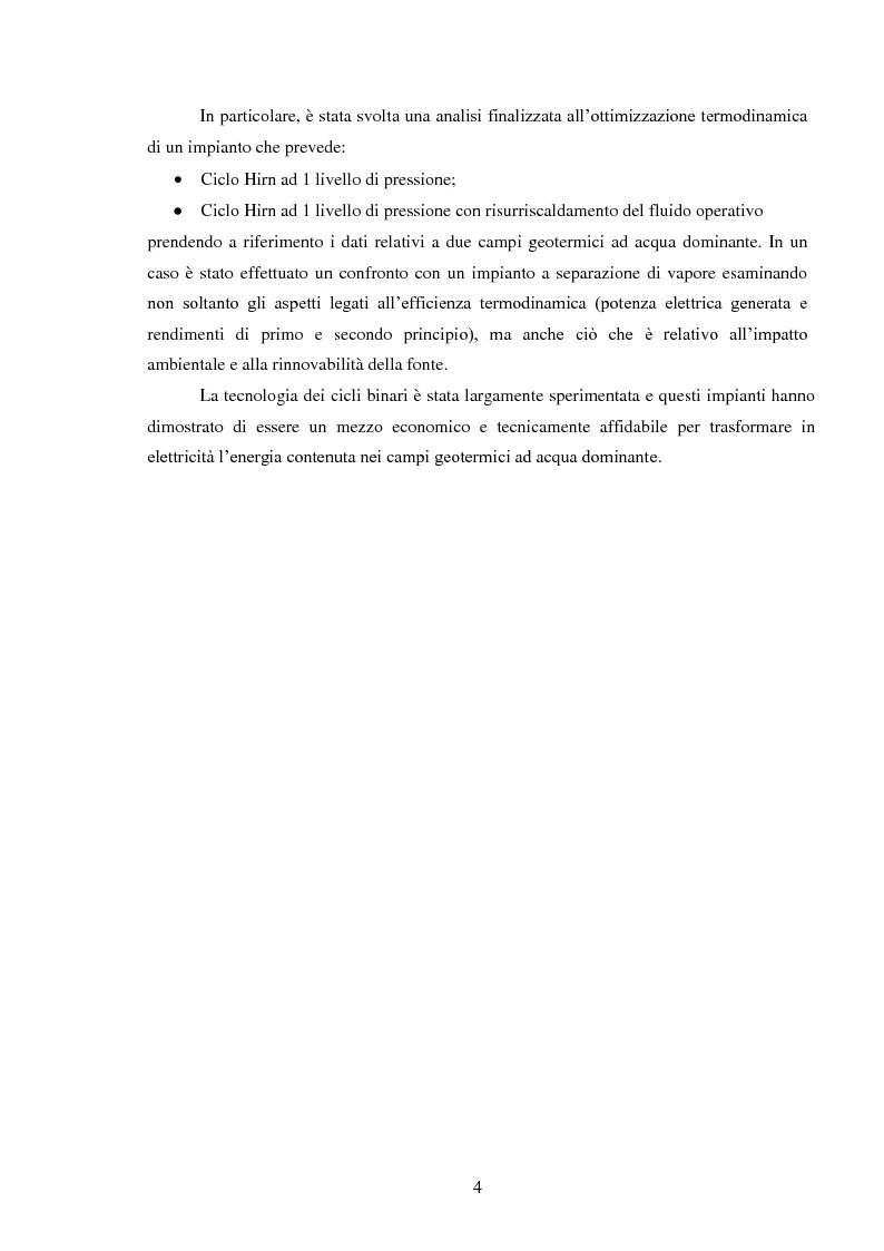 Anteprima della tesi: Produzione di energia elettrica da fonti geotermiche a bassa entalpia , Pagina 4
