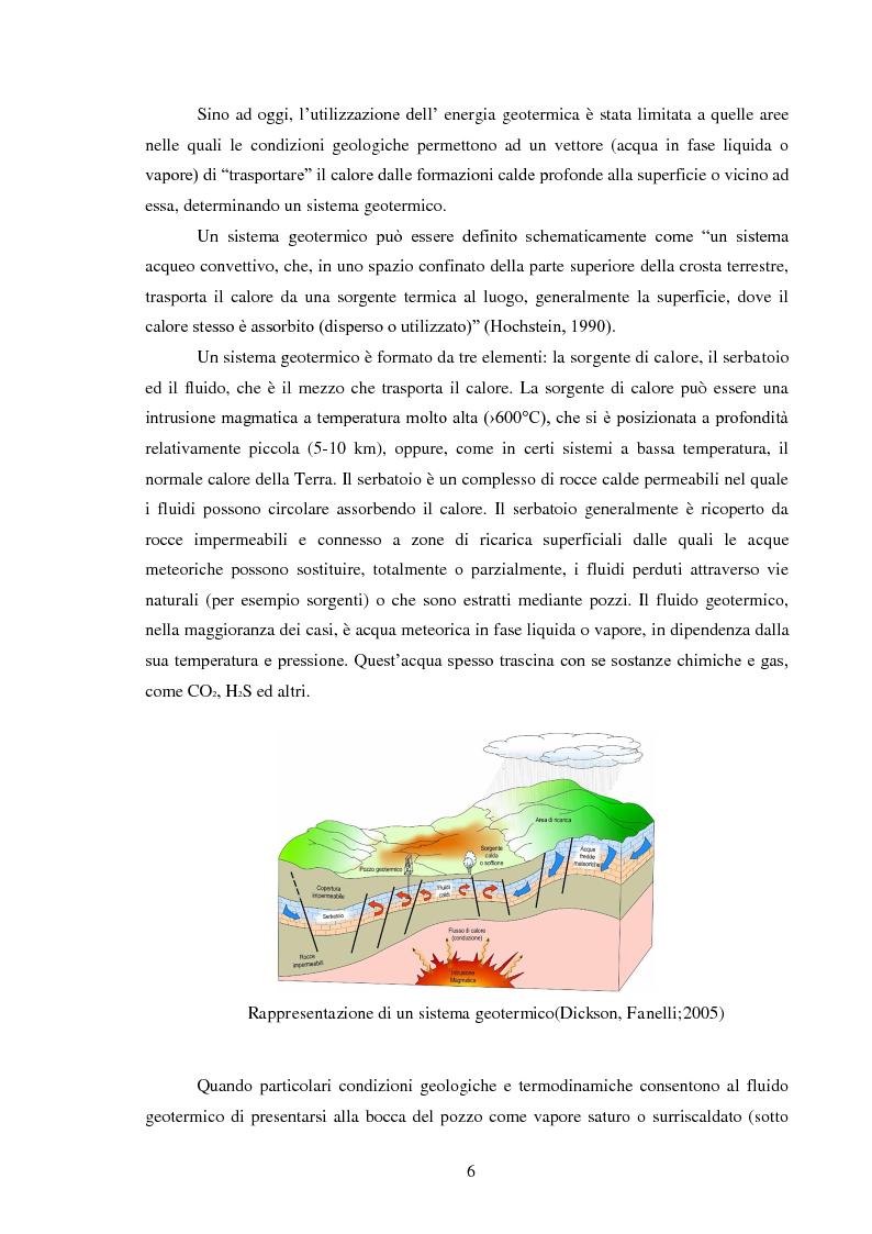 Anteprima della tesi: Produzione di energia elettrica da fonti geotermiche a bassa entalpia , Pagina 6