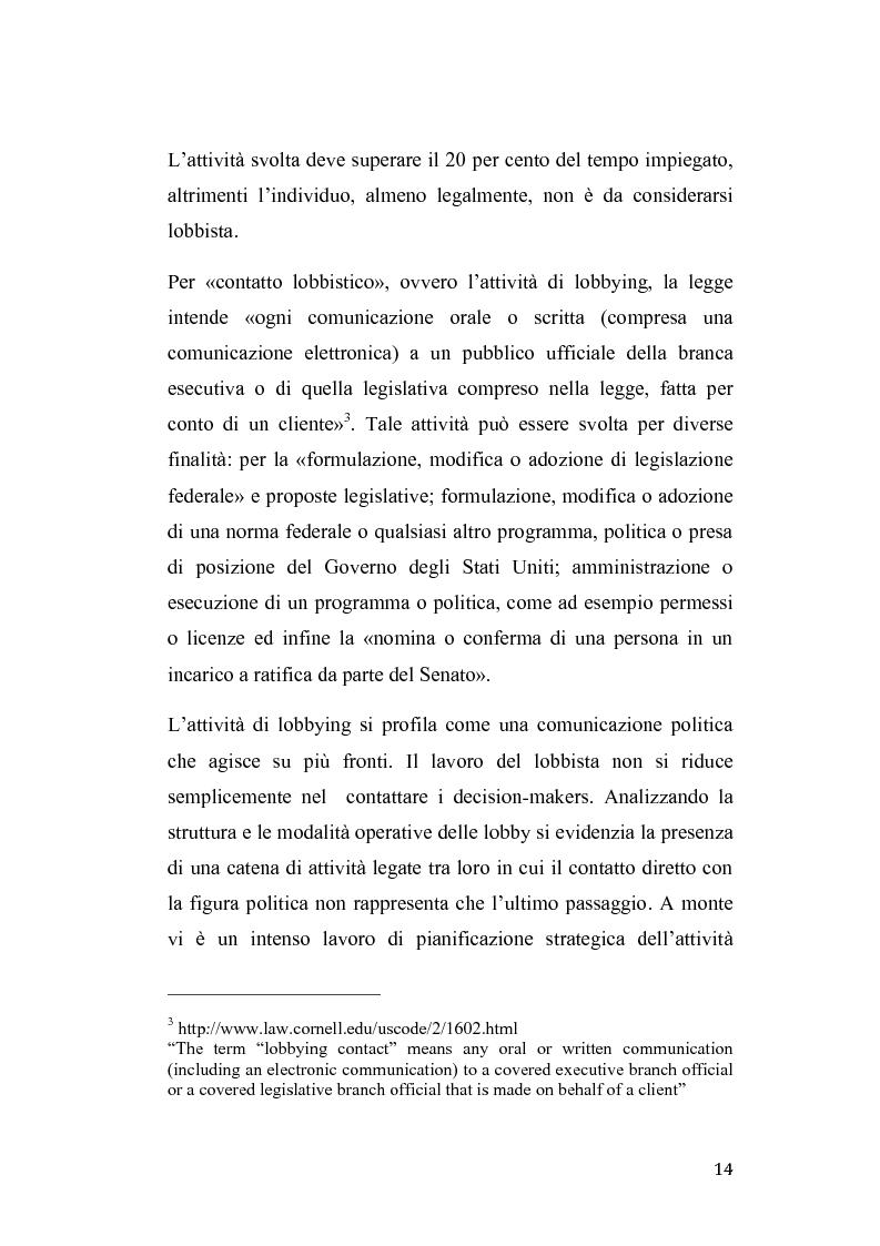 Anteprima della tesi: Gruppi di pressione nel sistema politico americano, Pagina 10