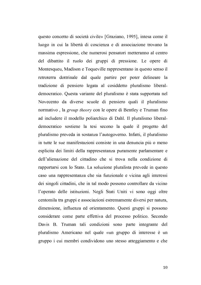 Anteprima della tesi: Gruppi di pressione nel sistema politico americano, Pagina 6