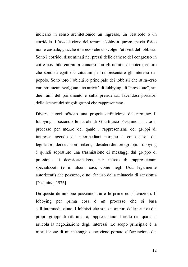 Anteprima della tesi: Gruppi di pressione nel sistema politico americano, Pagina 8