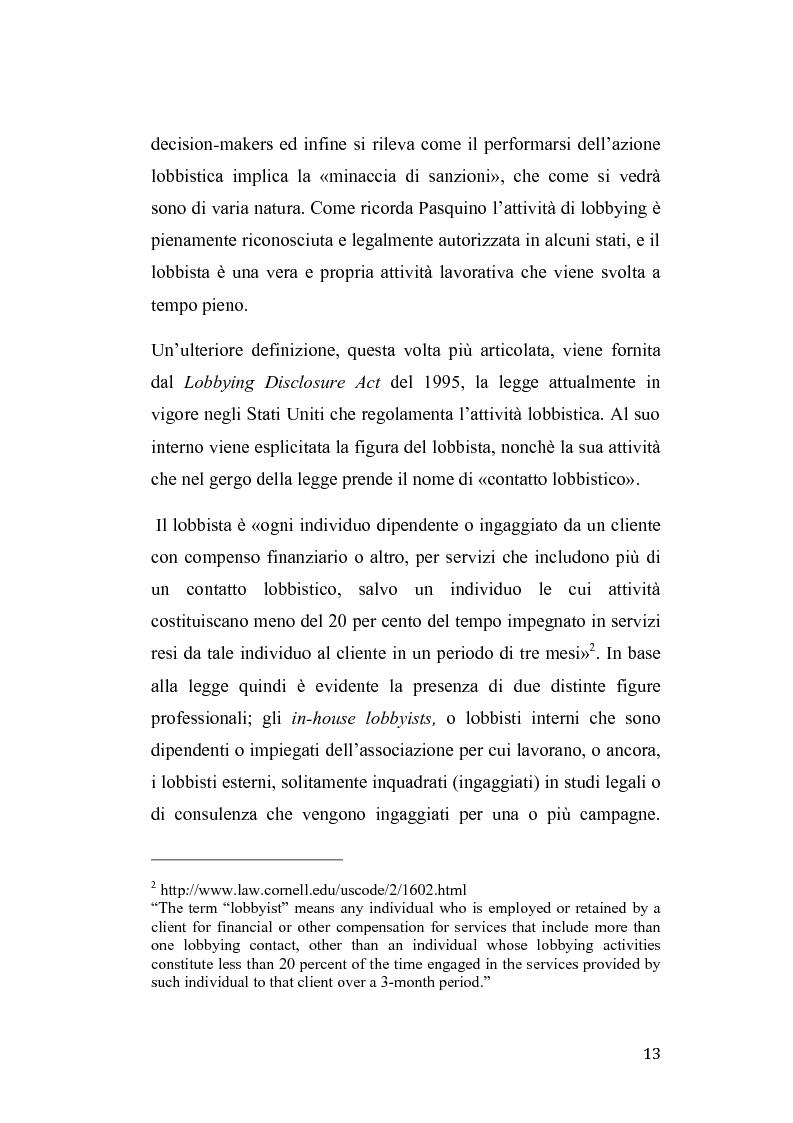 Anteprima della tesi: Gruppi di pressione nel sistema politico americano, Pagina 9