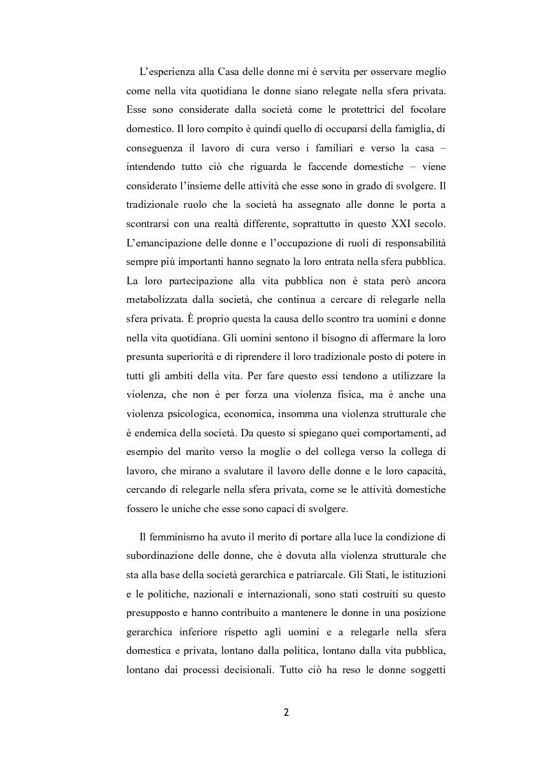 Anteprima della tesi: La riflessione femminista sulla sicurezza, Pagina 2