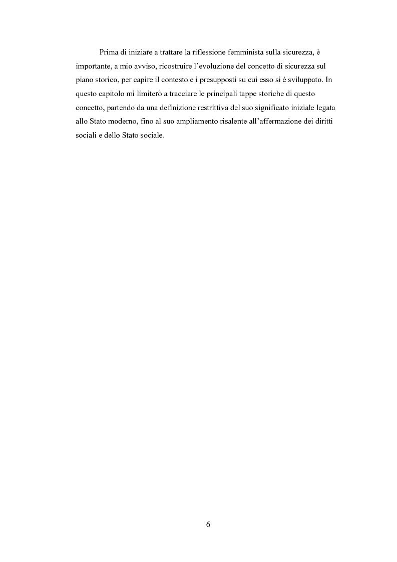 Anteprima della tesi: La riflessione femminista sulla sicurezza, Pagina 6