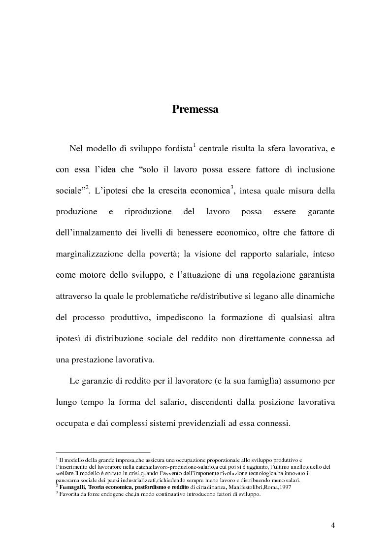 Anteprima della tesi: Minimum Income, Pagina 1