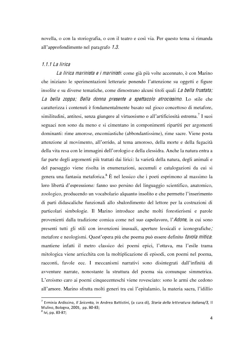 """Anteprima della tesi: Il romanzo secentesco e i suoi generi testuali: analisi del """"Cordimarte"""" di G. Artale, Pagina 4"""