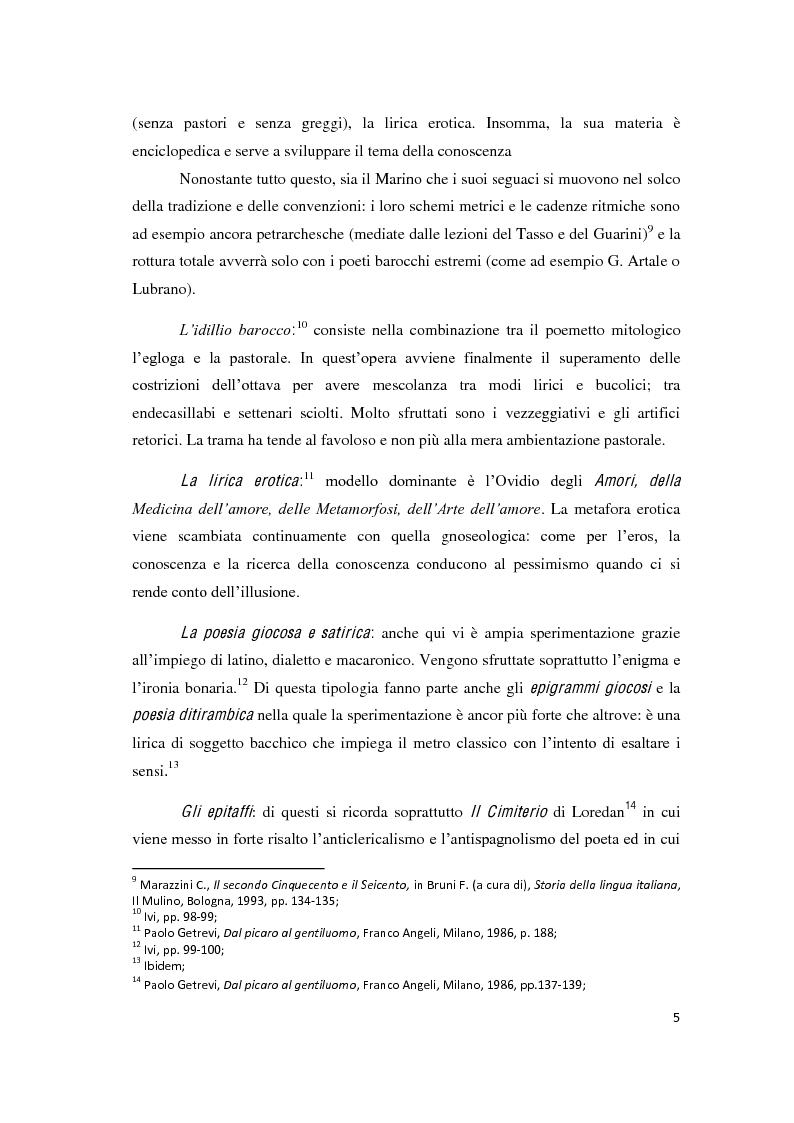"""Anteprima della tesi: Il romanzo secentesco e i suoi generi testuali: analisi del """"Cordimarte"""" di G. Artale, Pagina 5"""