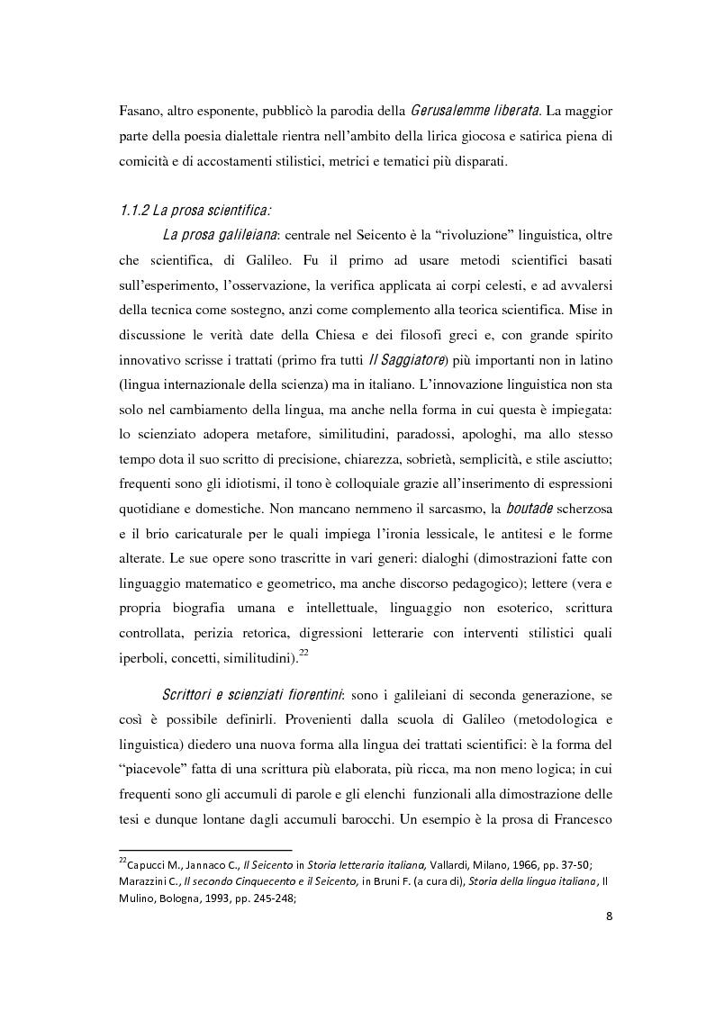 """Anteprima della tesi: Il romanzo secentesco e i suoi generi testuali: analisi del """"Cordimarte"""" di G. Artale, Pagina 8"""