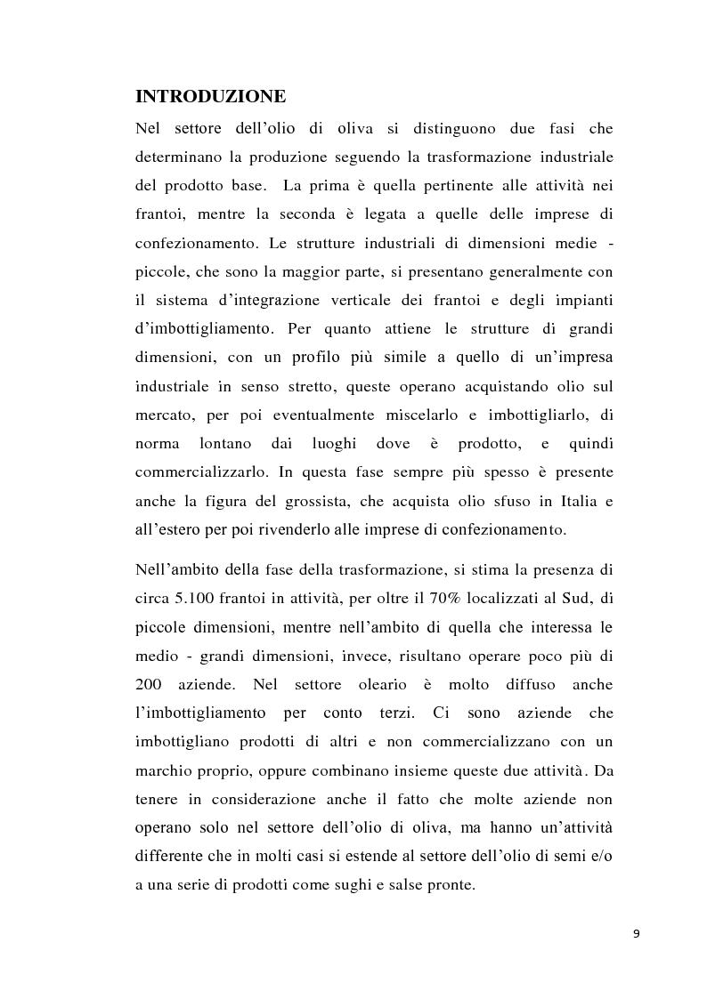 Anteprima della tesi: Strategie imprenditoriali nell'industria olearia: il caso Salov, Pagina 1