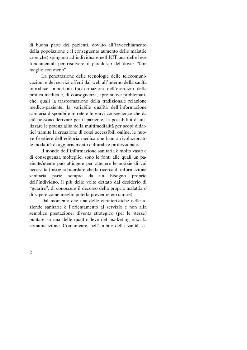 Anteprima della tesi: Dalle nuove tecnologie in sanità all'e-health marketing, Pagina 2