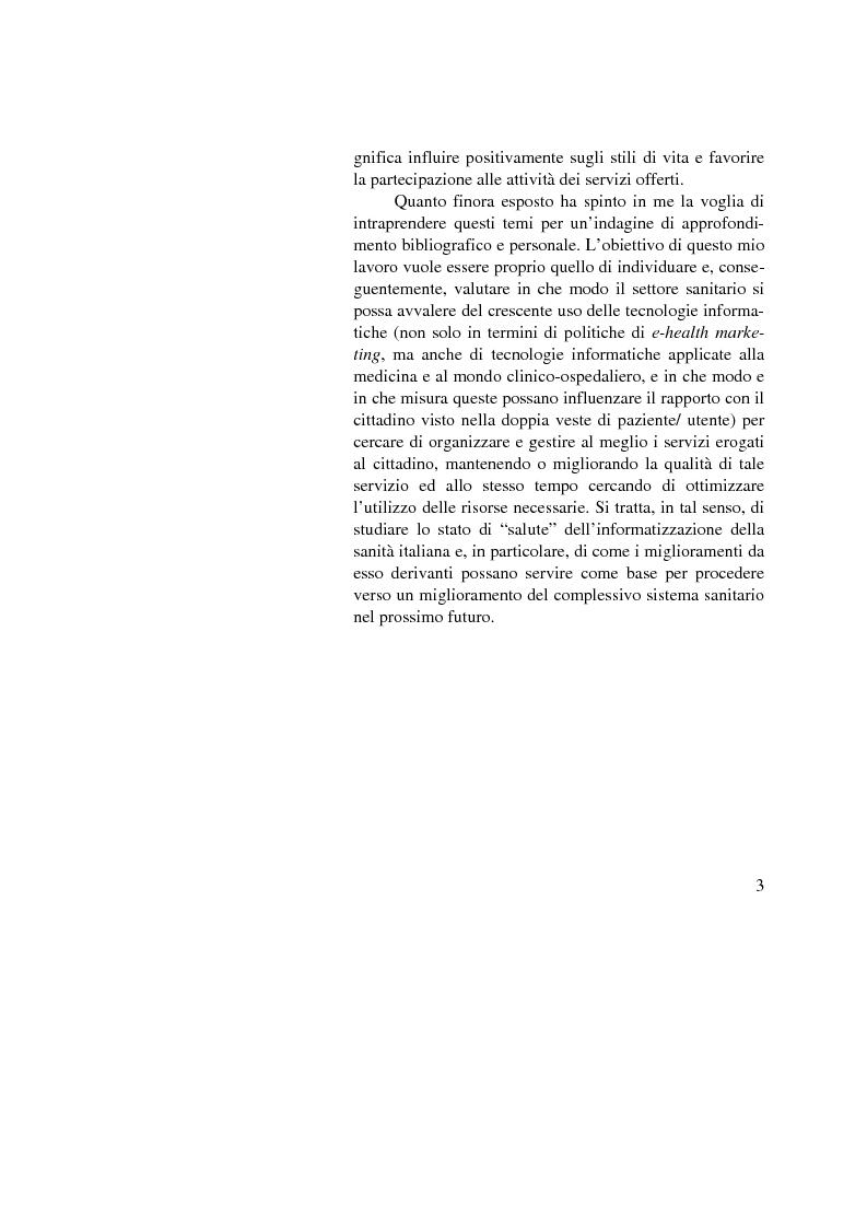 Anteprima della tesi: Dalle nuove tecnologie in sanità all'e-health marketing, Pagina 3