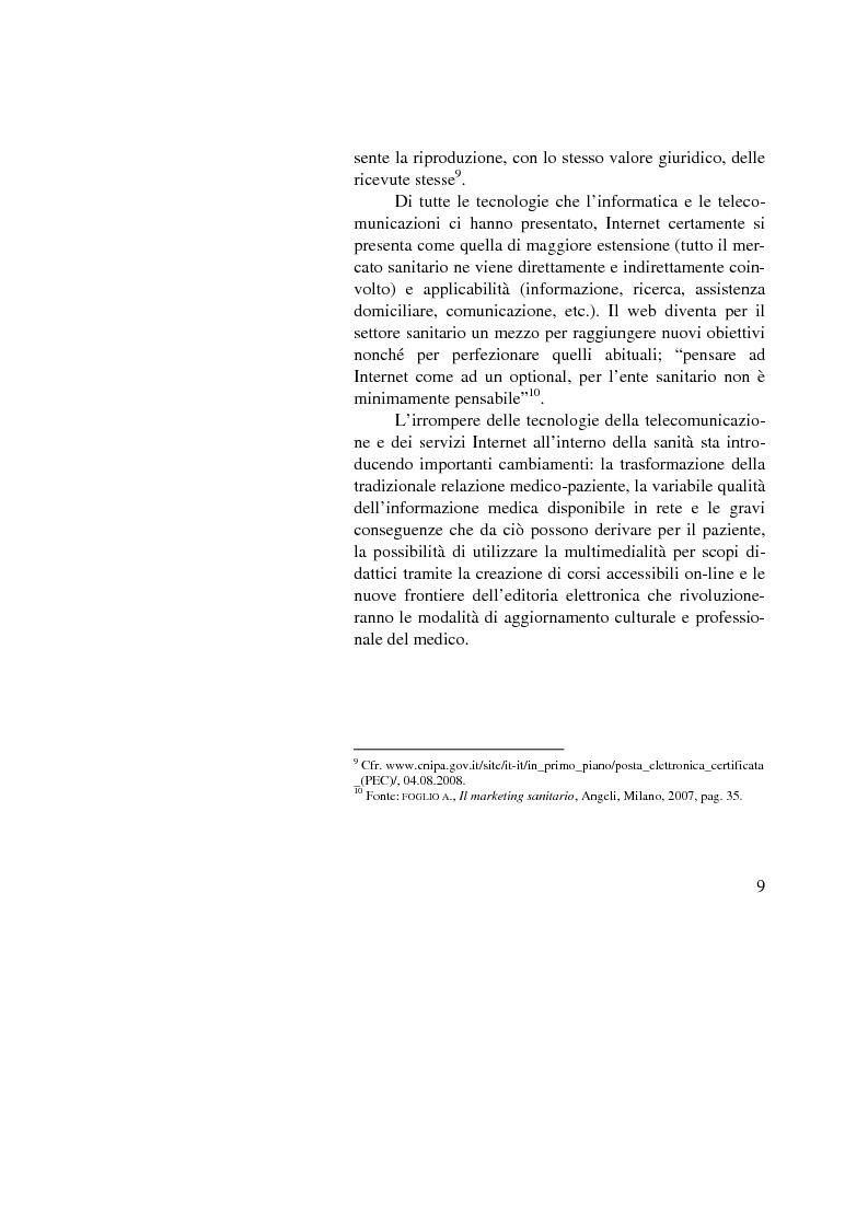 Anteprima della tesi: Dalle nuove tecnologie in sanità all'e-health marketing, Pagina 9