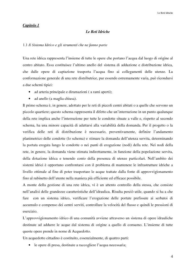 Anteprima della tesi: Il controllo attivo delle perdite nelle reti idriche: il caso della rete di Ponte Piccolo (CZ), Pagina 1