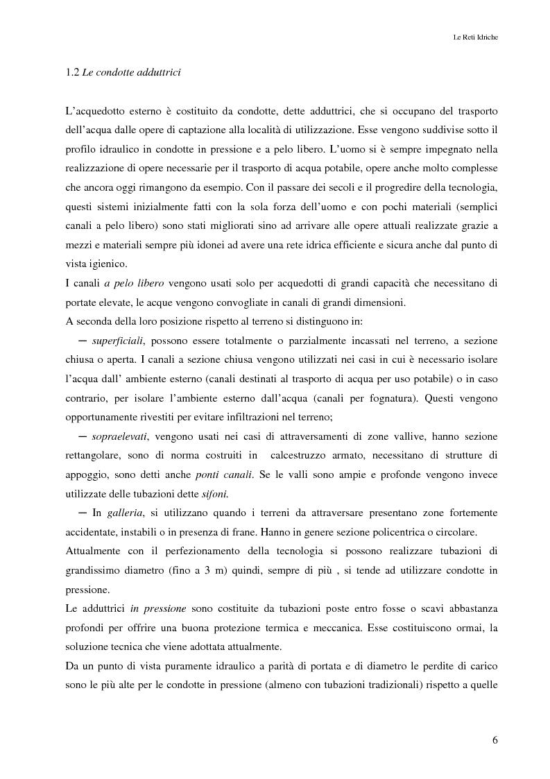 Anteprima della tesi: Il controllo attivo delle perdite nelle reti idriche: il caso della rete di Ponte Piccolo (CZ), Pagina 3