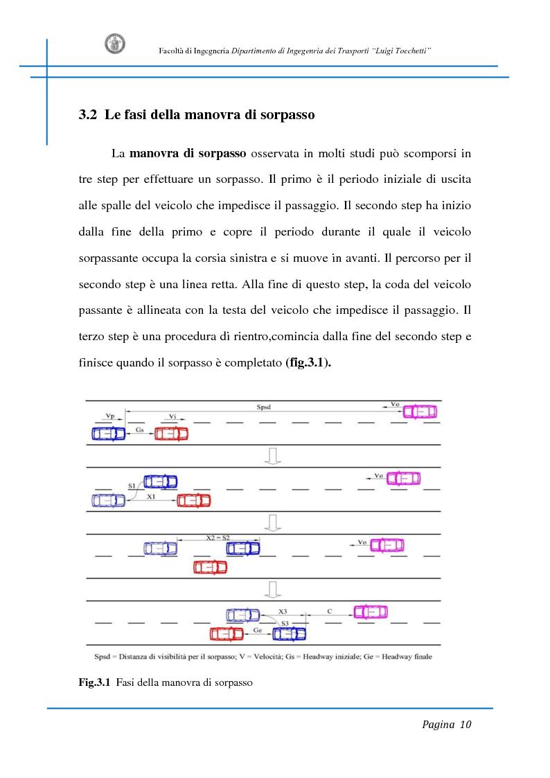 Anteprima della tesi: Sicurezza stradale: analisi della manovra di sorpasso con l'ausilio di sperimentazione su strada e simulazione al calcolatore, Pagina 10