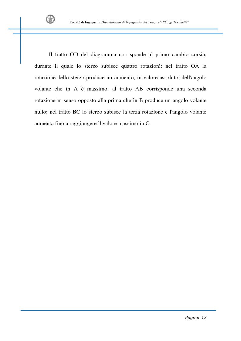 Anteprima della tesi: Sicurezza stradale: analisi della manovra di sorpasso con l'ausilio di sperimentazione su strada e simulazione al calcolatore, Pagina 12