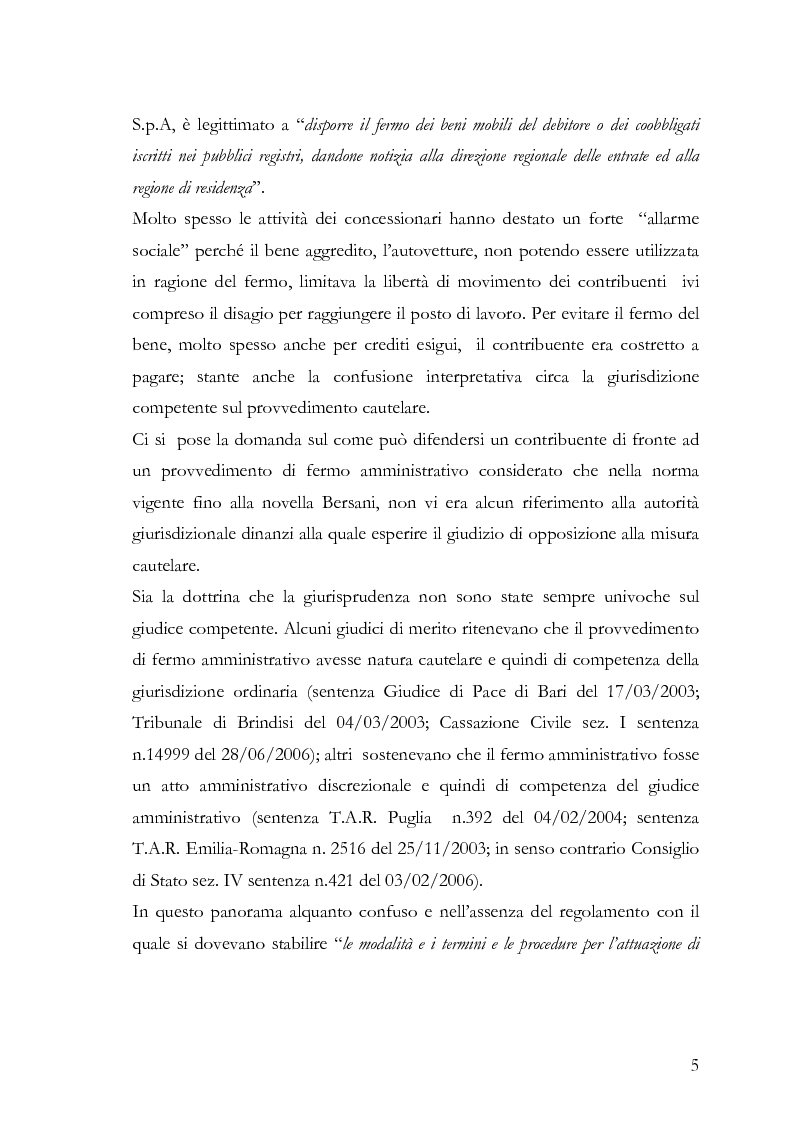 Anteprima della tesi: Il fermo amministrativo nella giurisdizione tributaria, Pagina 2