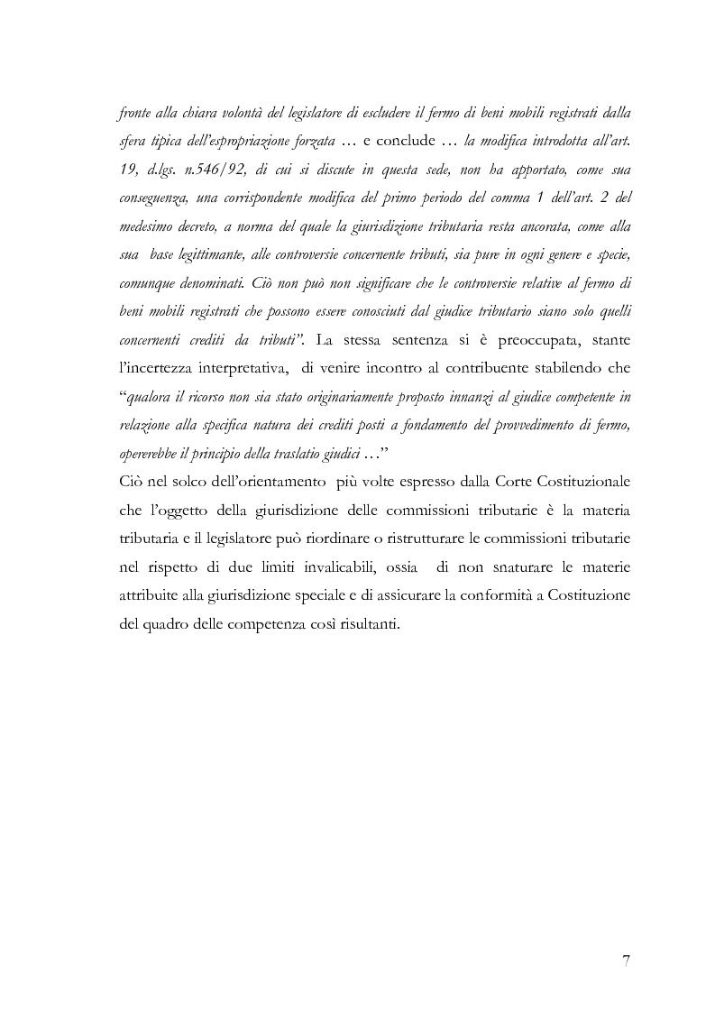 Anteprima della tesi: Il fermo amministrativo nella giurisdizione tributaria, Pagina 4