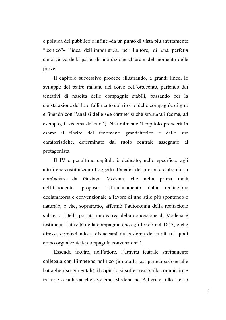 Anteprima della tesi: La tragedia alfieriana di Modena, Rossi e Salvini, Pagina 4
