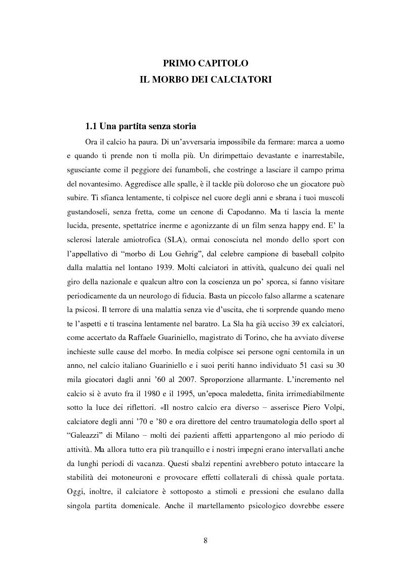 Anteprima della tesi: Il prezzo della gloria: il rapporto tra la SLA e il mondo dello sport, Pagina 1