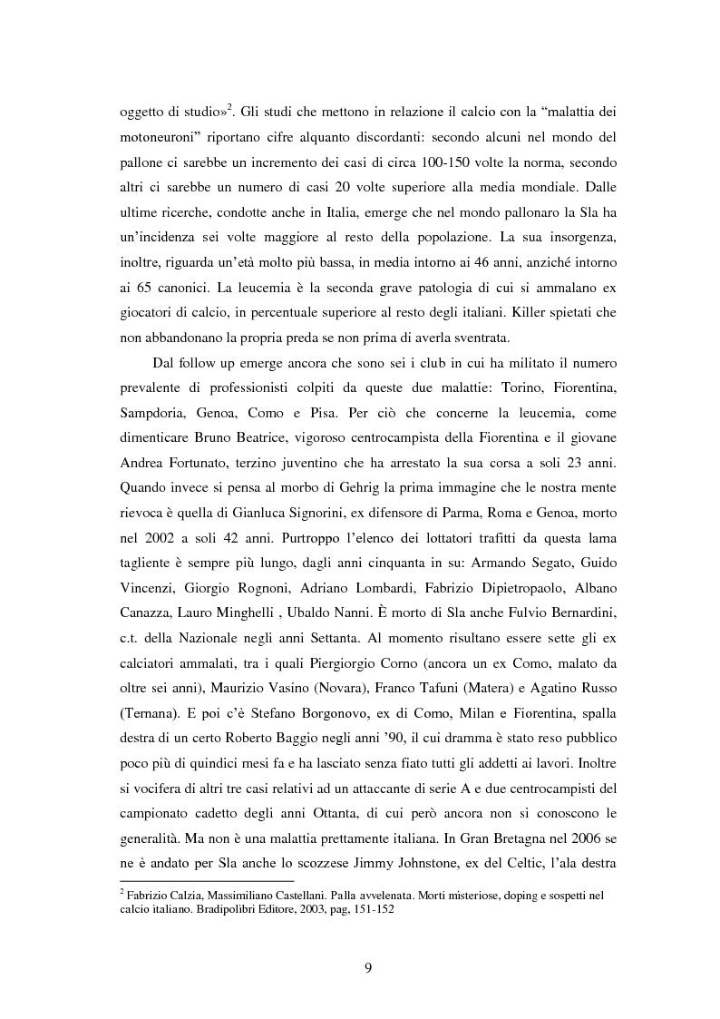 Anteprima della tesi: Il prezzo della gloria: il rapporto tra la SLA e il mondo dello sport, Pagina 2