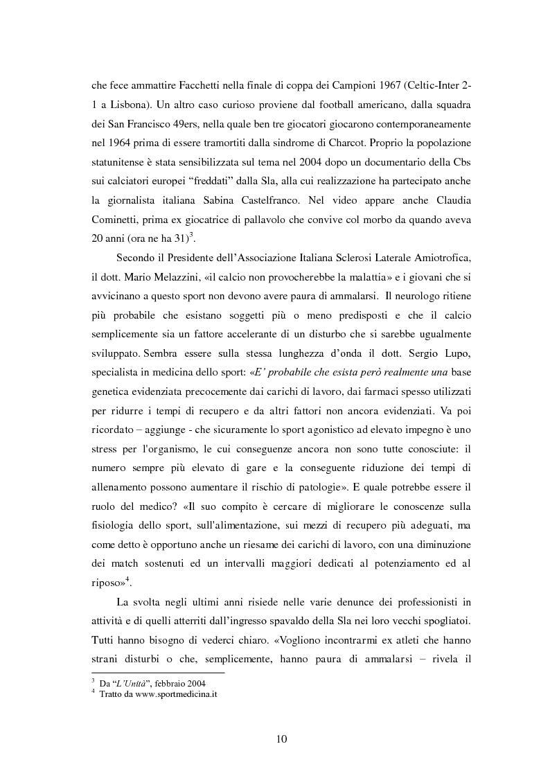 Anteprima della tesi: Il prezzo della gloria: il rapporto tra la SLA e il mondo dello sport, Pagina 3