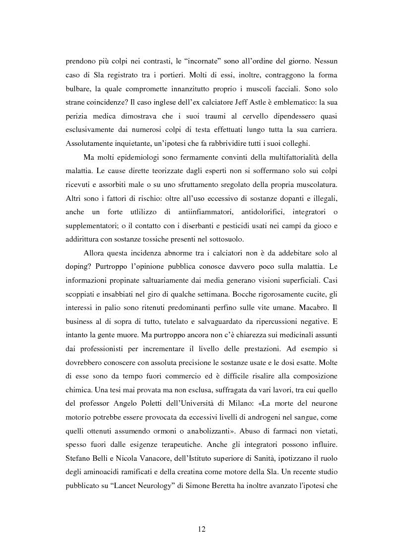 Anteprima della tesi: Il prezzo della gloria: il rapporto tra la SLA e il mondo dello sport, Pagina 5