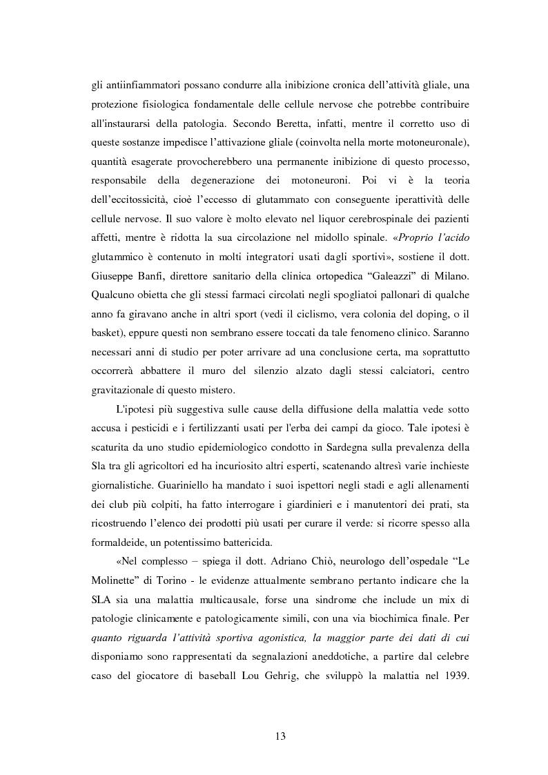 Anteprima della tesi: Il prezzo della gloria: il rapporto tra la SLA e il mondo dello sport, Pagina 6