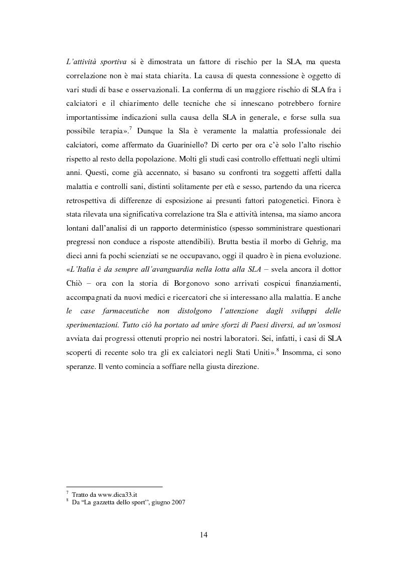 Anteprima della tesi: Il prezzo della gloria: il rapporto tra la SLA e il mondo dello sport, Pagina 7