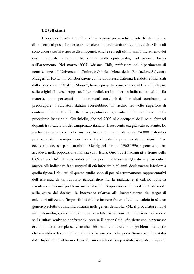 Anteprima della tesi: Il prezzo della gloria: il rapporto tra la SLA e il mondo dello sport, Pagina 8