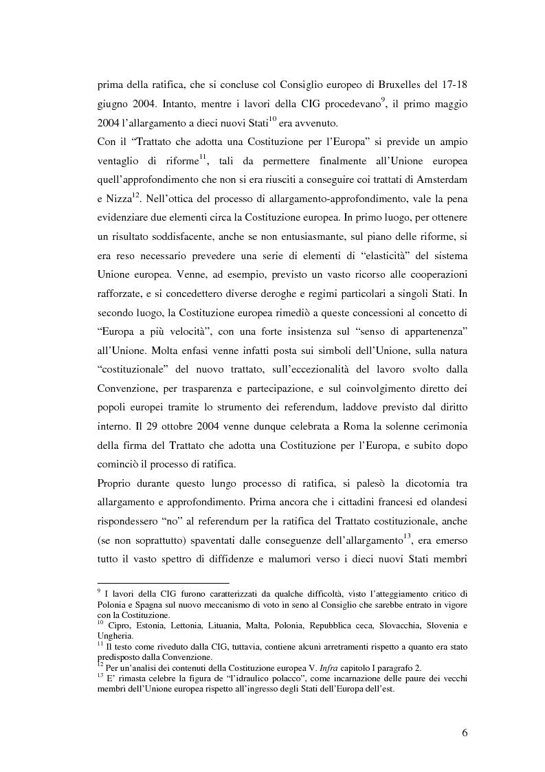Anteprima della tesi: Le principali innovazioni del Trattato di Lisbona tra allargamento e approfondimento, Pagina 4