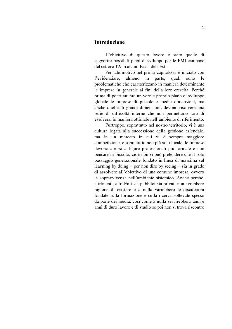 Anteprima della tesi: L'internazionalizzazione delle Pmi: il caso moda Italia, Pagina 1