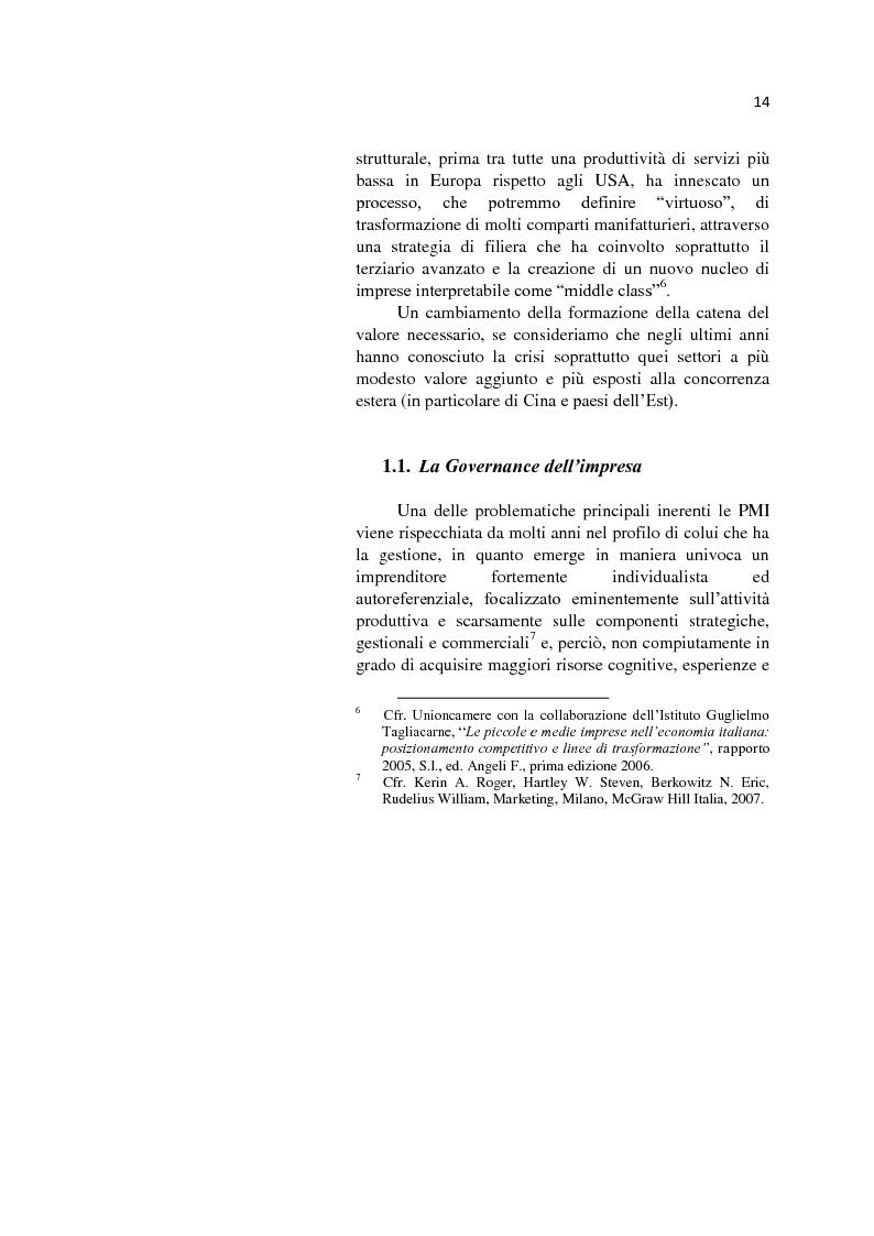 Anteprima della tesi: L'internazionalizzazione delle Pmi: il caso moda Italia, Pagina 10