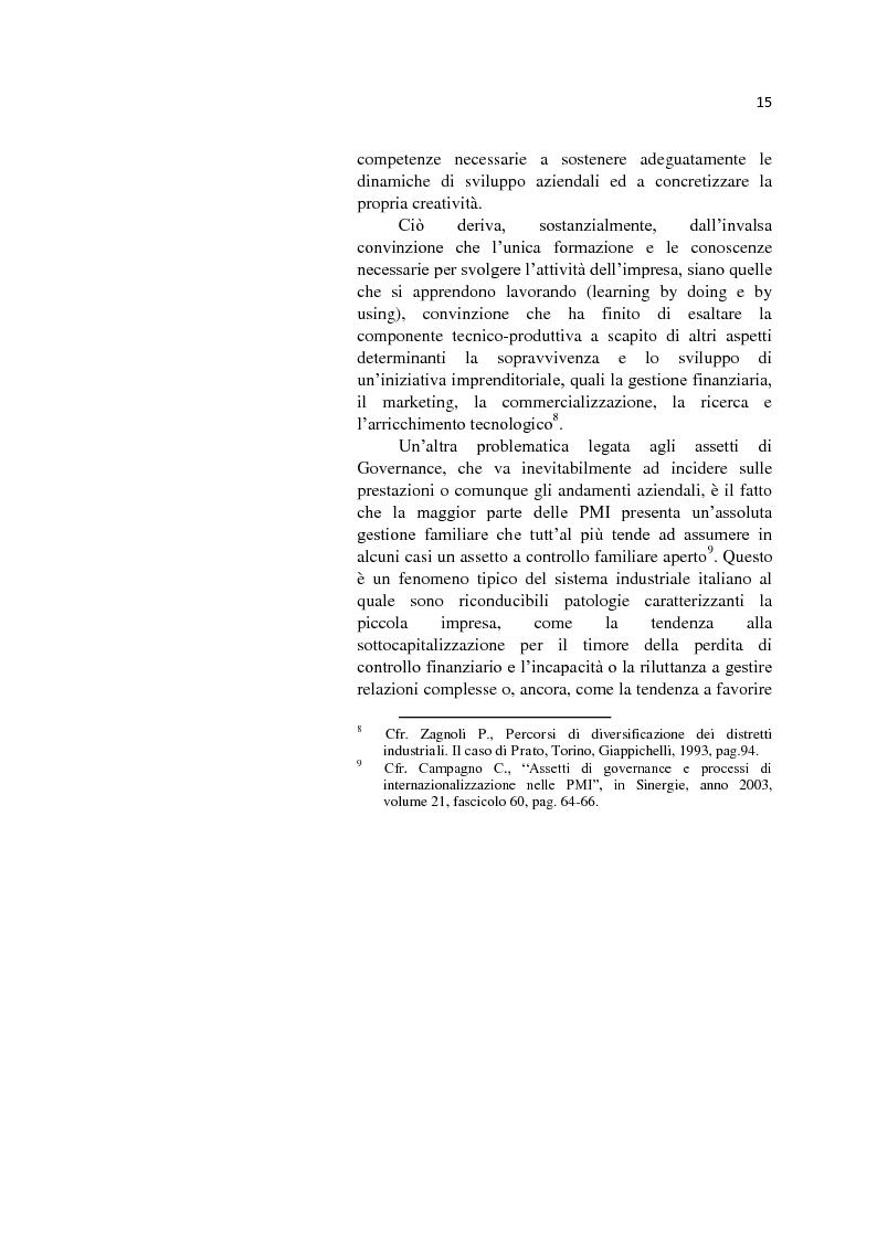 Anteprima della tesi: L'internazionalizzazione delle Pmi: il caso moda Italia, Pagina 11