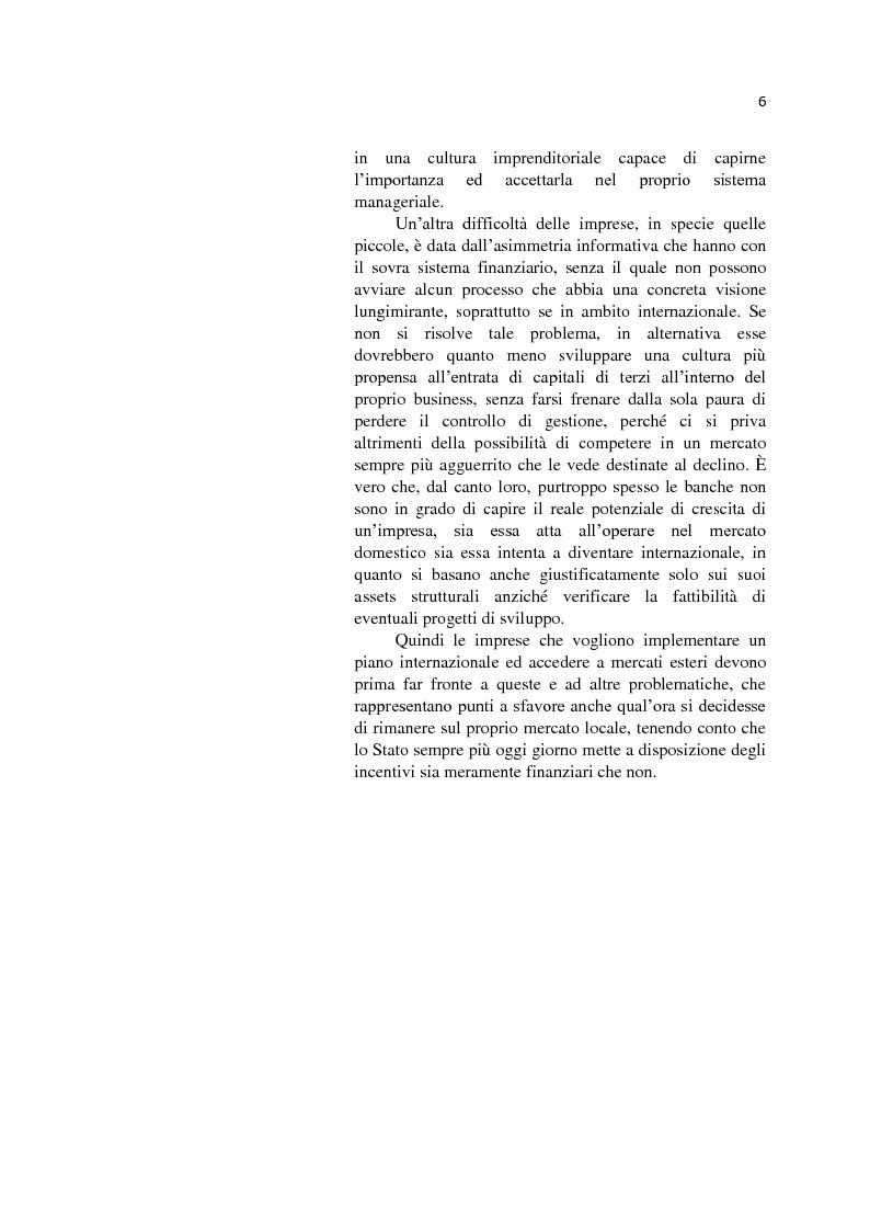 Anteprima della tesi: L'internazionalizzazione delle Pmi: il caso moda Italia, Pagina 2