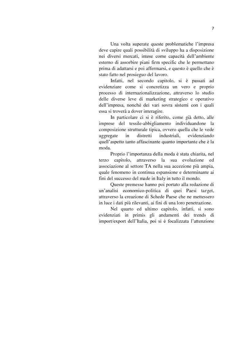 Anteprima della tesi: L'internazionalizzazione delle Pmi: il caso moda Italia, Pagina 3