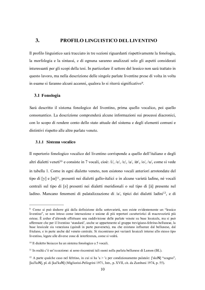 Anteprima della tesi: Varietà dialettali tra Piave e Livenza. Il liventino: profilo linguistico e confini., Pagina 10