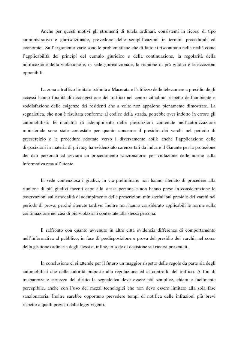 Anteprima della tesi: La disciplina della zona a traffico limitato: interessi coinvolti, controlli, strumenti di tutela, Pagina 2
