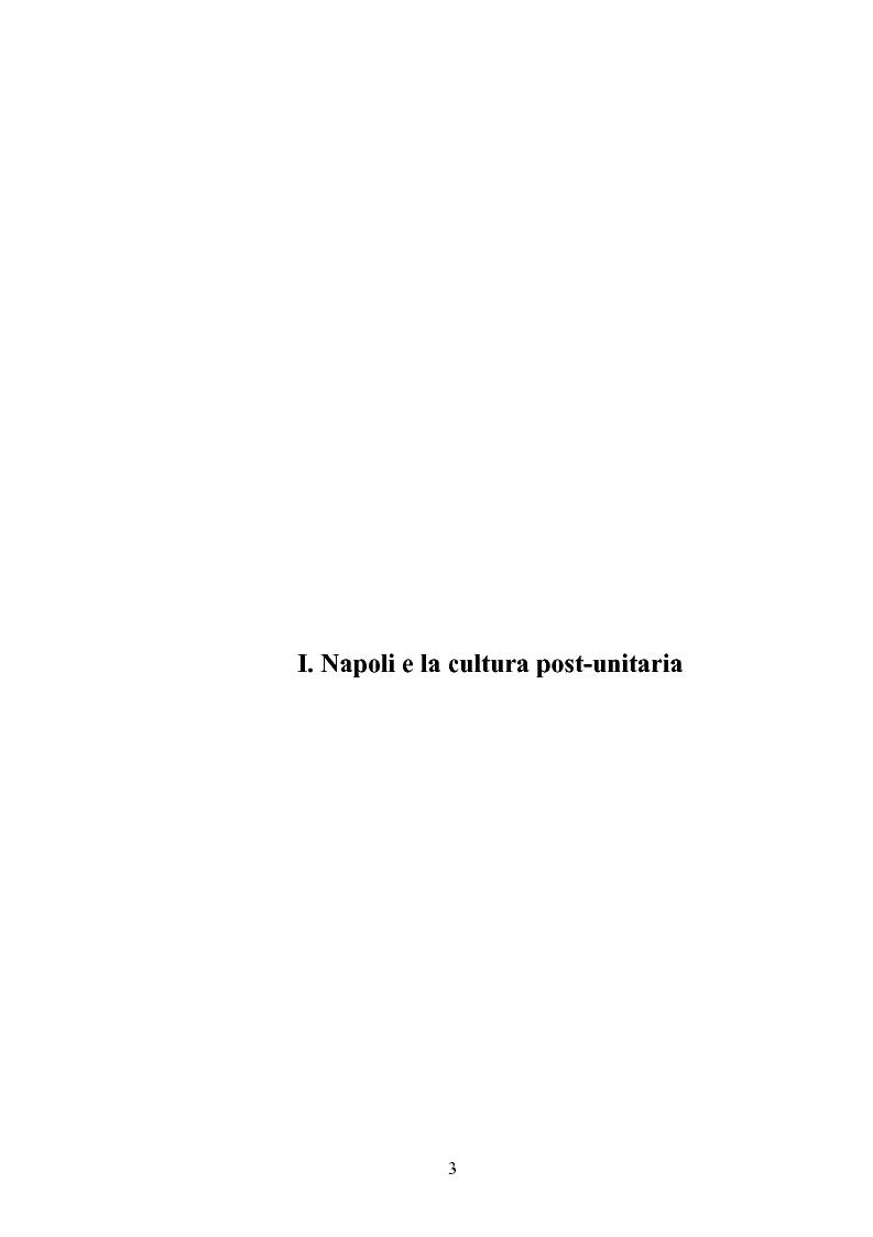 Anteprima della tesi: La Napoli letteraria di fine 800, Pagina 1