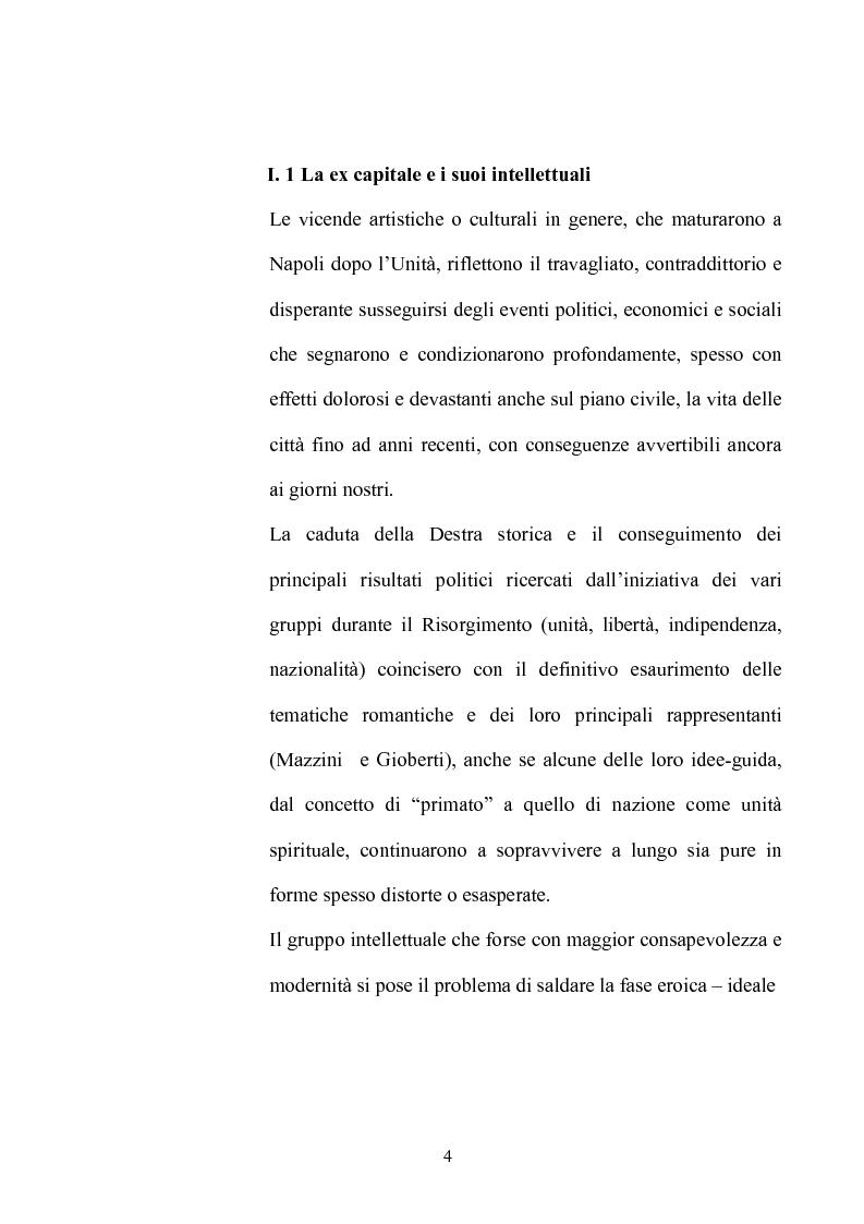 Anteprima della tesi: La Napoli letteraria di fine 800, Pagina 2