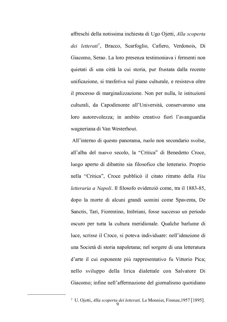 Anteprima della tesi: La Napoli letteraria di fine 800, Pagina 7
