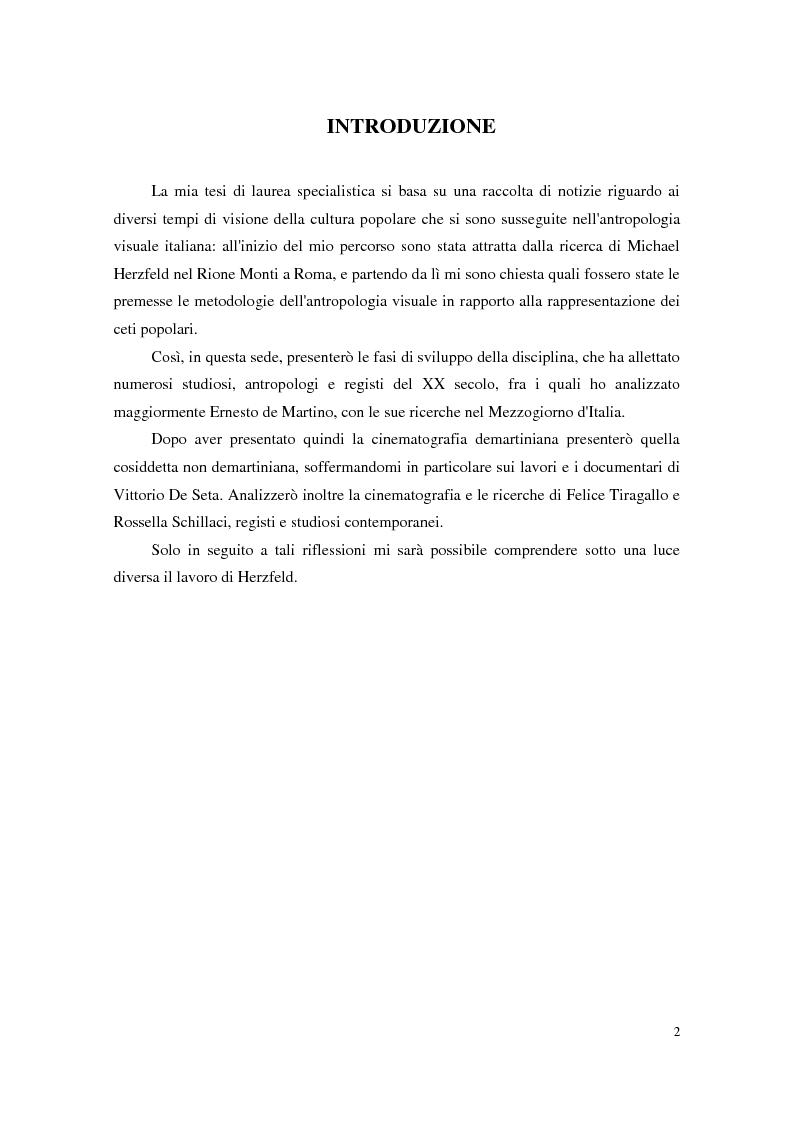 Anteprima della tesi: Da Ernesto De Martino a Michael Herzfeld: la cultura popolare italiana nell'antropologia visiva, Pagina 1