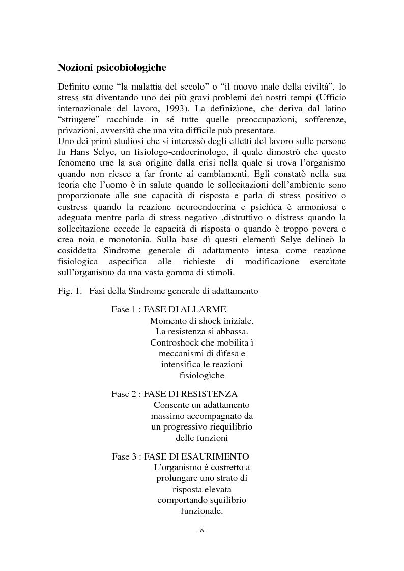 Anteprima della tesi: Call center e telestress. La patologia corre sl filo del telefono: quando lavorare diventa una malattia., Pagina 2