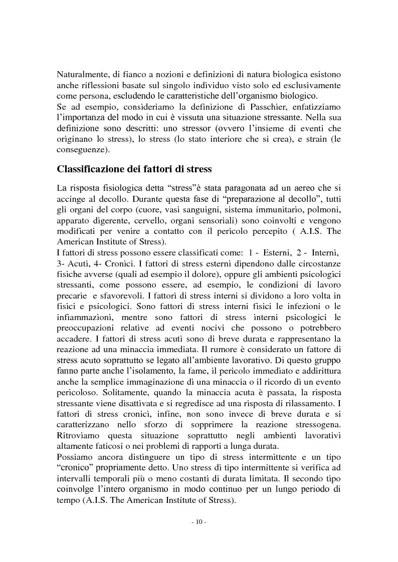 Anteprima della tesi: Call center e telestress. La patologia corre sl filo del telefono: quando lavorare diventa una malattia., Pagina 4