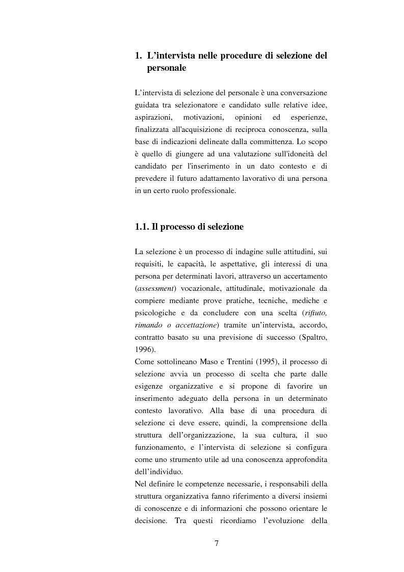 Anteprima della tesi: L'uso e la validità dell'intervista di selezione nella psicologia del lavoro e delle organizzazioni, Pagina 3